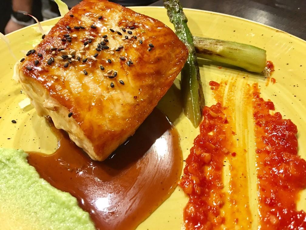 Salmone alla piastra in salsa Teriyaki
