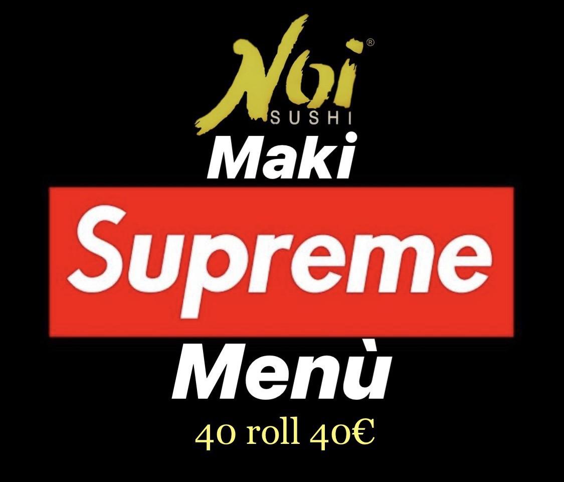 Menù Maki Supreme 40 rolls
