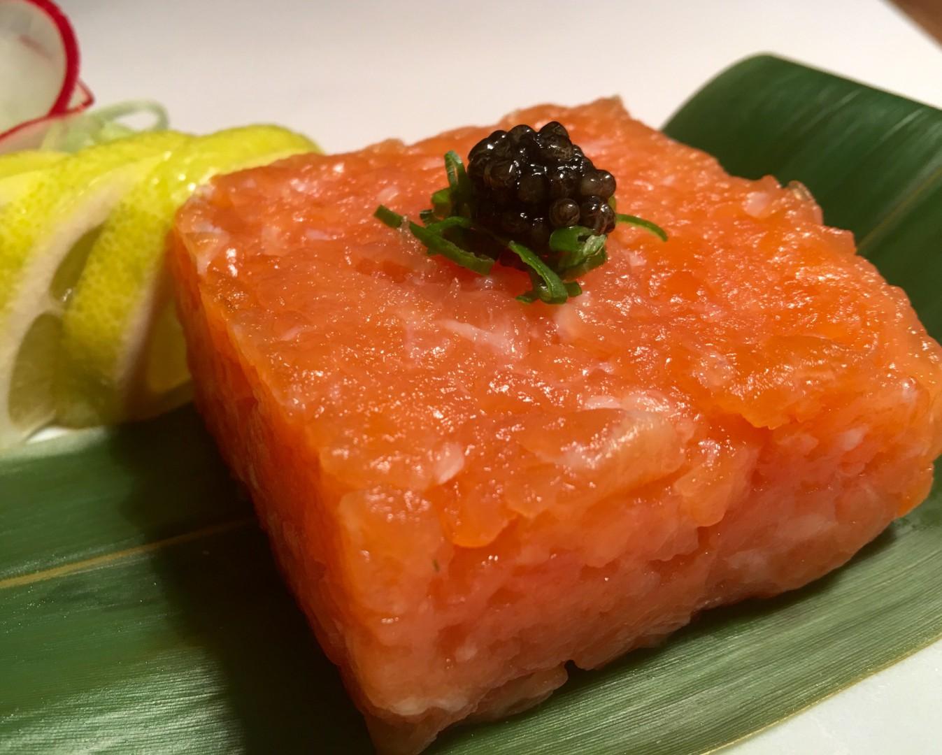 Tartare Salmone salsa ponzu